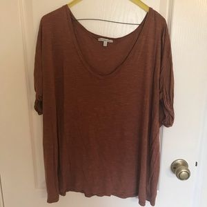Brick colored plus size top from Charlotte Russe